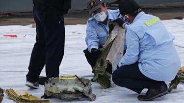 Indonesia plane crash recovery.