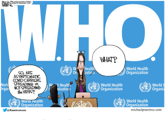 Editorial Cartoon U.S. World health organization who coronavirus transmission