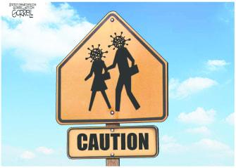Editorial Cartoon U.S. coronavirus caution