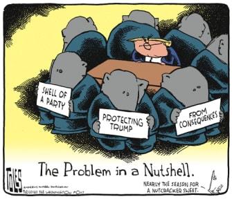 Political Cartoon U.S. Trump GOP
