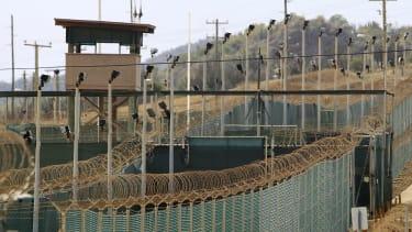 High security at Guantanamo Bay.