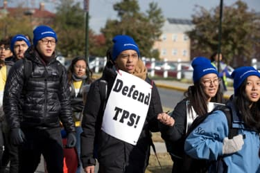 TPS supporters march