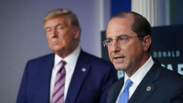 Trump and former HHS Secretary Alex Azar