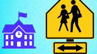 School and home.