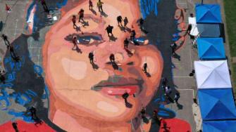 Breonna Taylor mural.
