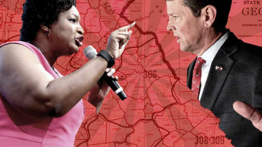 Stacey Abrams and Brian Kemp.