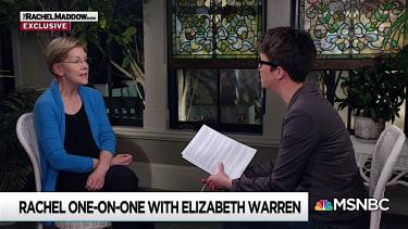 Elizabeth Warren and Rachel Maddow