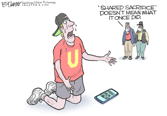 Editorial Cartoon U.S. spring break canceled COVID