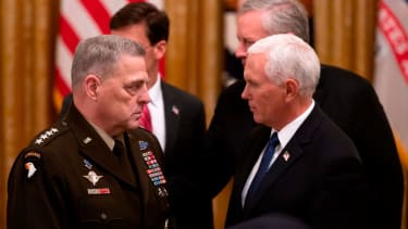Gen. Mark Milley and Mike Pence