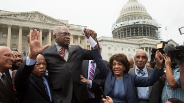 Rep. John Lewis and other congressional Democrats in Washington