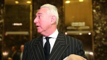Roger Stone in Trump Tower in December 2016