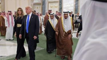 President and Melania Trump in Saudi Arabia