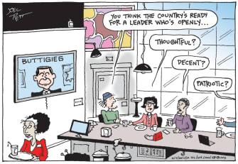 Political Cartoon U.S. Pete Buttigieg Democrats Iowa Caucuses 2020 election voters