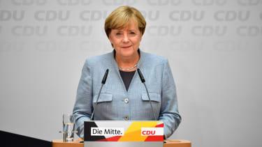 Newly re-elected German Chancellor Angela Merkel.