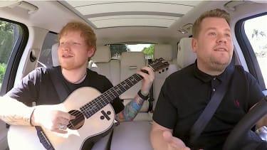 Ed Sheeran and James Corden sing and drive