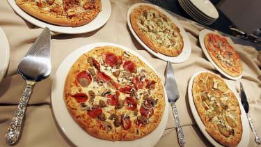 Pizza at the California Pizza Kitchen.