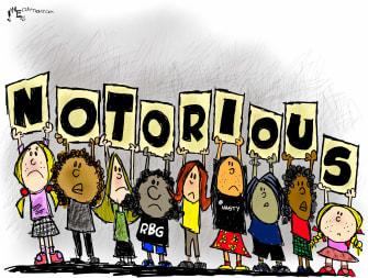 Editorial Cartoon U.S. Ginsburg Notorious RBG RIP