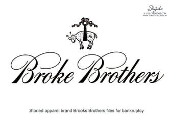 Editorial Cartoon U.S. Brooks Brothers bankruptcy