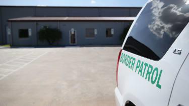 A Border Patrol vehicle.