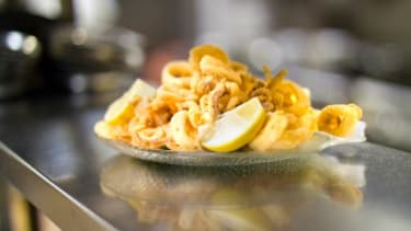Really, who doesn't immediately associate calamari with Rhode Island?