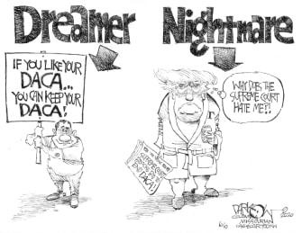 Political Cartoon U.S. Trump DACA supreme court ruling