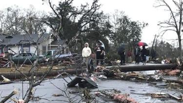 Tornado destruction in Mississippi