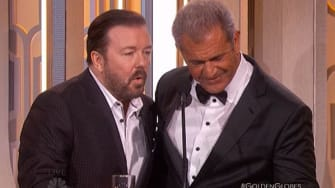 Ricky Gervais and Mel Gibson.