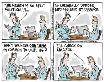 Editorial Cartoon U.S. political divisions Amazon