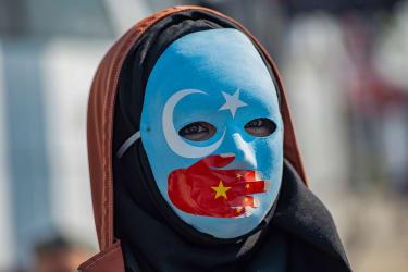 Pro-Uighur protesers in Istanbul