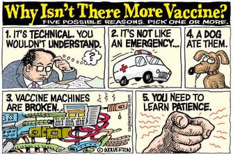 Editorial Cartoon U.S. covid vaccine supply