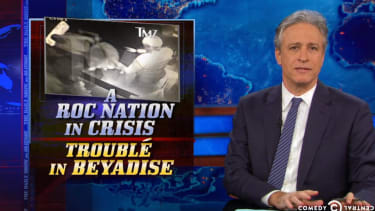 Jon Stewart unironically shames the media for its Solange-Jay Z fight obsession