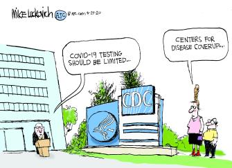Editorial Cartoon U.S. CDC COVID recommendations