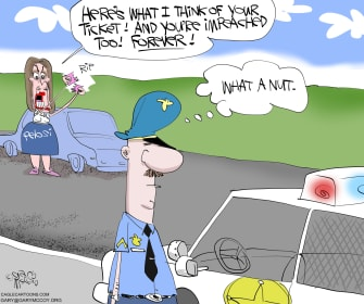 Political Cartoon U.S. Pelosi ticket speech tear up