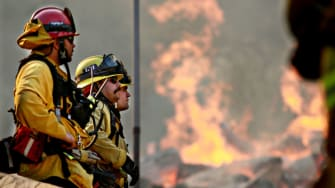 Firefighters in Malibu.