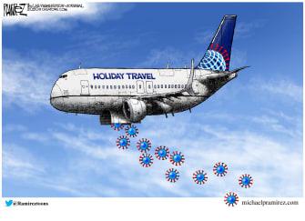 Editorial Cartoon U.S. Holiday Travel COVID