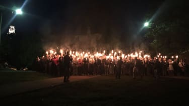 Torches at a protest in Charlottesville, VA