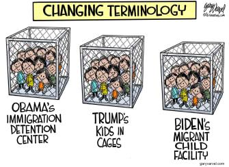 Political Cartoon U.S. obama trump biden migrant children