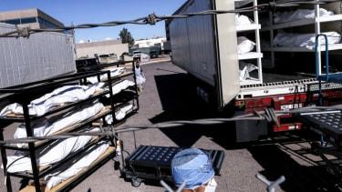 Morgue truck in El Paso
