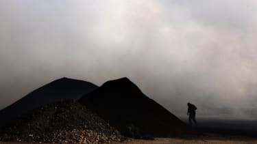 A Chinese rare earth metals mining operation.