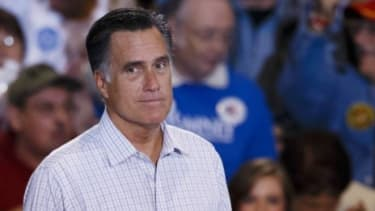 Mitt Romney speaks to supporters at the Seagate Center in Toledo, Ohio, on  Sept. 25 during a campaign stop: Romney has had his fair share of debates but this will be his first one against Pr