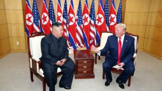 Donald Trump and Kim Jong Un.
