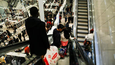 Shoppers visit H&M in New York on Black Friday.