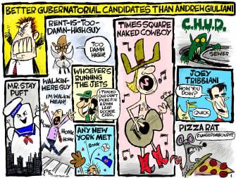 Political Cartoon andrew giuliani new york governor