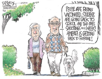 Editorial Cartoon U.S. covid vaccine mass shootings