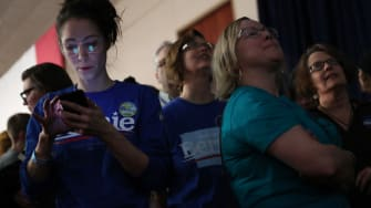 Waiting for results in Iowa, 2020