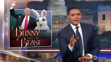 Trevor Noah laughs at Trump's first White House Easter party