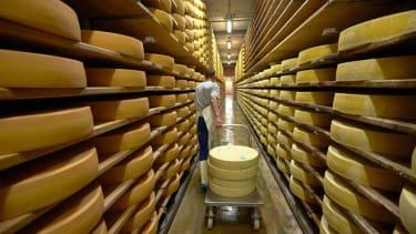 Gruyere cheese making