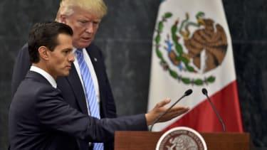 Donald Trump and Mexican President Enrique Pena Nieto