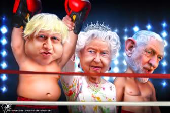 Political Cartoon World Boris Johnson Brexit Win