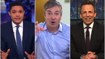 Seth Meyers, Trevor Noah, and Jimmy Fallon laugh at Beto O'Rourke's rollout